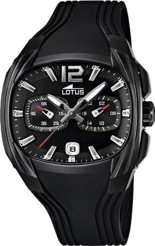 bb7c80894654 Lotus 15757-1 - Reloj analógico de cuarzo para hombre con correa de caucho