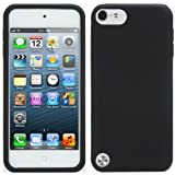 Evecase Silicone Skin Cover Case for Apple iPod Touch iTouch 5G 5th Generation (2012 Version) (Black)