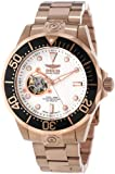 Invicta Men's Automatic Watch with Silver Dial Analogue Display and Gold Stainless Steel Plated Bracelet 13712