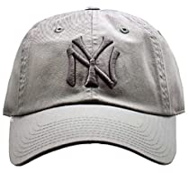New York Yankees MLB American Needle Tonal Ballpark Slouch Cotton Twill Adjustable Hat (Grey)