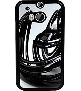 ColourCraft Abstract Image Design Back Case Cover for HTC ONE M8