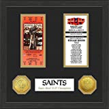 New Orleans Saints Super Bowl Ticket Collection Plaque - Licensed NFL Football Merchandise