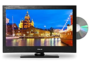 Finlux 19 Inch LED TV/DVD Combi 12V/Mains Multi-Region HD 720p Freeview PVR Black Caravan HGV Boat- 19H6030-DM