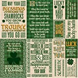 Reminisce Lucky Day Patrick's Day 12x12 Poster Scrapbook Sticker
