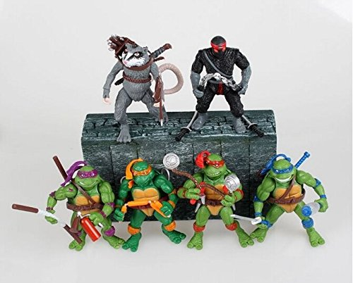 "6pcs/Set NECA Teenage Mutant Ninja TURTLES Action 4.7"" TMNT Figure Set"