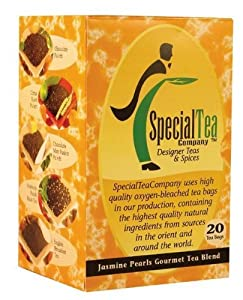 Jasmine Pearls Gourmet Green x 100 Tea Bags + Free Samples