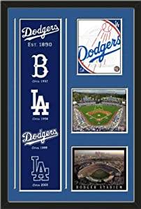 MLB Los Angeles Dodgers Banner With Logos-2011 Los Angeles Dodgers Team logo photo,... by Art and More, Davenport, IA