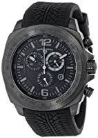 "Swiss Legend Men's ""Sprinter"" Black Ion-Plated Stainless Steel and Black Silicone Watch from Swiss Legend"