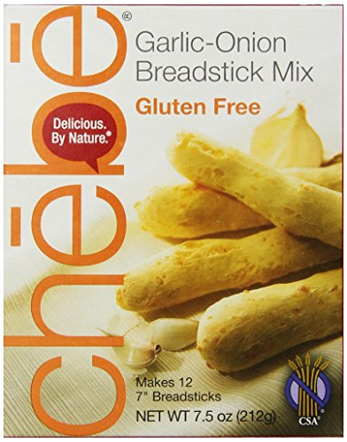 Chebe Bread Sticks Mix, Garlic & Onion, Gluten Free, 7.5Ounce Bags Pack of 8