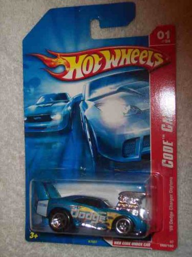 Code Car Series #1 1969 Dodge Charger Daytona Baby Blue #2007-85 Collectible Collector Car Mattel Hot Wheels front-766046
