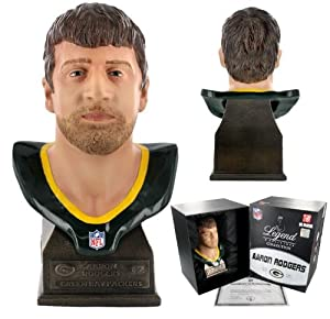 "Green Bay Packers Super Star Quaterback Aaron Rodgers #12 NFL approved 8"" sculpture bust"