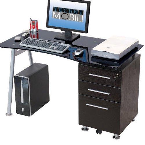 Scrivania portacomputer per ufficio cameretta colore nero