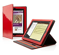 Red High-Gloss Folio with Multi-View Stand for IPad 2 by Cygnett