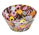 Splash 15 cm Diameter Bowl in Liquorice Design, Multi-Colour