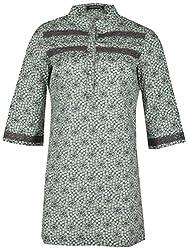 Century Women's Cotton Regular Fit Kurti(#TF217,Grey)