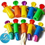 Caryko Dough Extruders Set Assorted Designs, Set of 10 - Assorted Colors