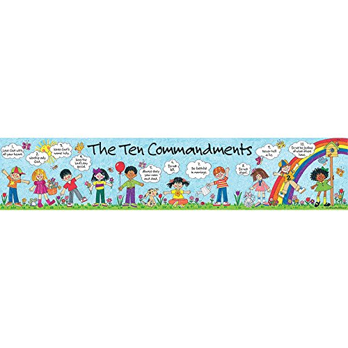 Teacher Created Resources Children's Ten Commandments Banner, Multi Color (7005)