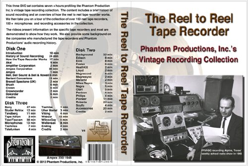 The Reel To Reel Tape Recorder Dvd Set (Plays In All Regions/Countries)