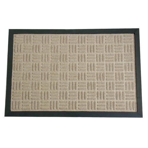 Rubber-Cal Wellington Entrance Carpet Mat - 18 x 30 inches - Tan Entrance Rug