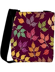 Snoogg A Seamless Pattern With Leaf Womens Carry Around Cross Body Tote Handbag Sling Bags - B01I1IPNG8