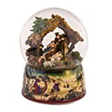 MusicBox Kingdom 50044 Crib Glitter Globe with Automatic Swirling Snow and Lights Music Box, Plays The Melody