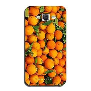Mozine Orange Lover printed mobile back cover for Samsung galaxy j7