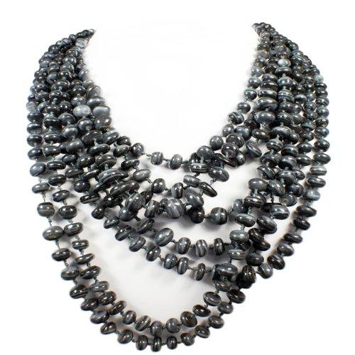 Women's Multi Layered Shell Strand Necklace