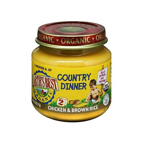 Earth's Best Organic Country Dinner, 2nd Chicken Brown Rice, 4 Ounce Jars (Pack of 12)