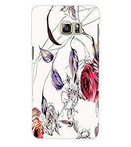 ColourCraft Floral Design Back Case Cover for SAMSUNG GALAXY S6 EDGE PLUS