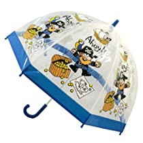 Bugzz Unisex Adult's Pvc Clear Pirate Umbrella One Size Pirate