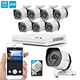 Zmodo 8 Channel 720p NVR System 8 HD IP Home Video Security Cameras 1TB HDD