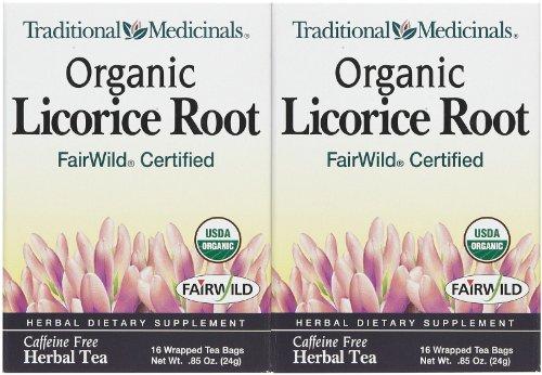 Traditional Medicinals, Organic Licorice Root, Fair Wild, 16 Ct, 2 Pk