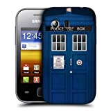 Head Case Police Box Telephone Booth Back Case Cover For Samsung Galaxy Y S5360
