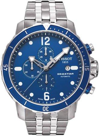 Tissot Men's T066.427.11.047.00 Blue Dial Watch