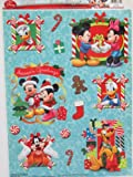 Disney Mickey Mouse and Friends Christmas Window Clings (13 Pieces on 1 Sheet)