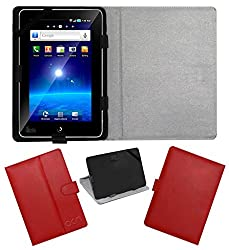 Acm Leather Flip Flap Case For Vizio Vz101a Tablet Cover Magnetic Closure Stand Red