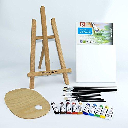 25-pcs-set-16-easel-20x30cm-canvas-a4-oil-paints-10x12ml-12-brushes-pelette-painting-kit