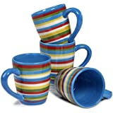 "Tabletop Lifestyles As Seen on ""Two and a Half Men"" Sedona Mug, 16-Ounce, Blue, Set of 4"
