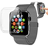 Orzly® - InvisiCase for APPLE WATCH (42mm) - 100% CLEAR (100% Transparent Colour) Protective Shell for Full Screen & Side Cover for use with the APPLE WATCH (For 42mm Model of All 2015 Versions - BASIC / SPORT / EDITION)