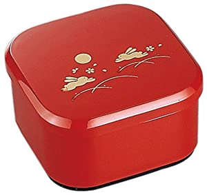 japanese usagi unagi lunch bento box bunny red 6372 kitchen home. Black Bedroom Furniture Sets. Home Design Ideas
