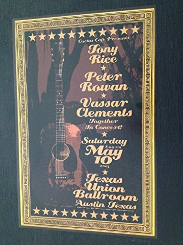 Tony Rice Peter Rowan Vassar Clements Original Limited Edition Bluegrass Poster (Rowan And Rice compare prices)