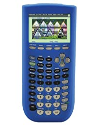 Guerrilla Silicone Case for Texas Instruments TI-84 Plus C Silver Edition Graphing Calculator, Blue