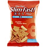 SlimFast Cheddar Bites Snack Bag 22 g - Pack of 12