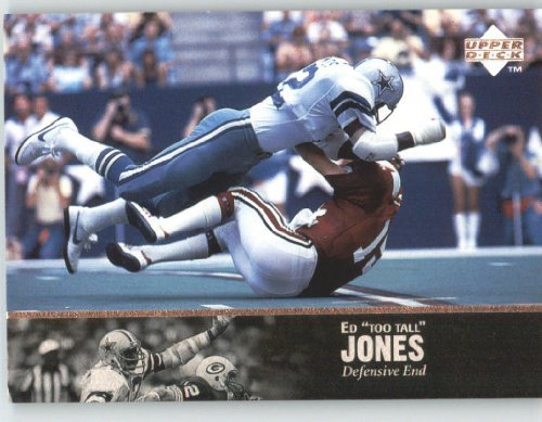 1997 Upper Deck Legends Football Card # 123 Ed Too Tall Jones - Dallas Cowboys - NFL Trading Card at Amazon.com