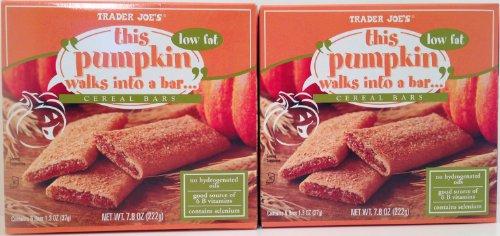 Trader Joe's Pumpkin Cereal Bars, 2 Boxes