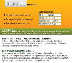 Hydro HIT Pre-Workout Supplement - Creatine, Electrolytes, L-Arginine, and Citrulline - Tropical Smoothie Flavor - 30 Servings