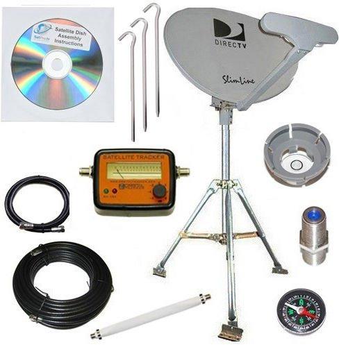 DirecTV SL5 Portable Satellite RV Dish Kit Camping Tailgating with Tripod (Directv Rv Satellite compare prices)