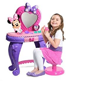 Minnie mouse vanity toys games for Kitchen set for 5 year old