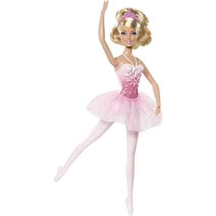 Mattel W2921 - Poupée Barbie : Ballerine (rose)