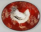 Avignon Rooster Oval Platter 16